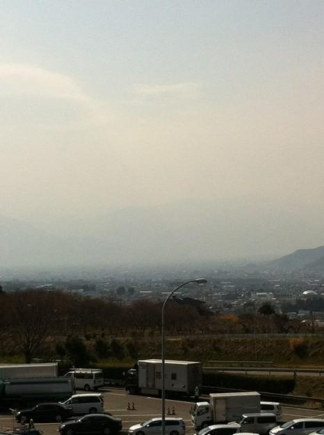Photos: 釈迦堂PAから見た甲府盆地。