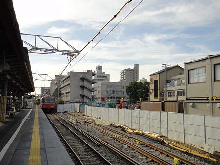 新安城駅拡幅された6番線