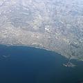 Photos: 空から見た江ノ島と湘南