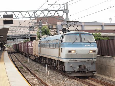 Ef66サメ貨物 東海道本線島本駅