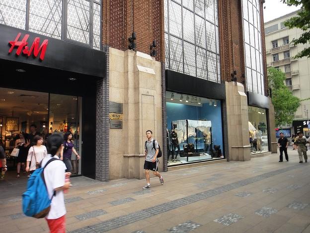 淮海路 H&Mの並び
