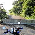 袴越林道の通行止め箇所