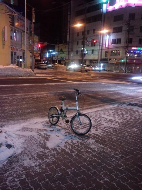 冬のチャリンコ