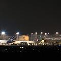 夜の成田空港 貨物ターミナル