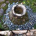 写真: 竹根石手水鉢