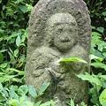 Photos: 道祖神とトカゲ