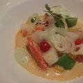 Photos: 帆立貝とズワイガニのナージュ風 色鮮やかなプティ野菜を添えて