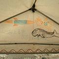 写真: 辺野古のテントにあった絵