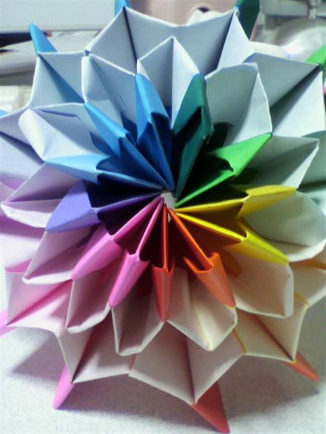 バラ 折り紙 動く折り紙 : photozou.jp