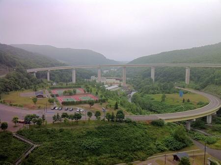朝里ループ橋