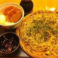 Photos: もりそば(大)+つくね丼