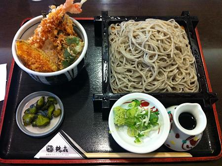 鶴喜 ランチ天丼セット