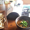 写真: 八丈島居酒屋こっこめ@しんづく二丁目にてカレーつけ(武蔵野)うどんナ...