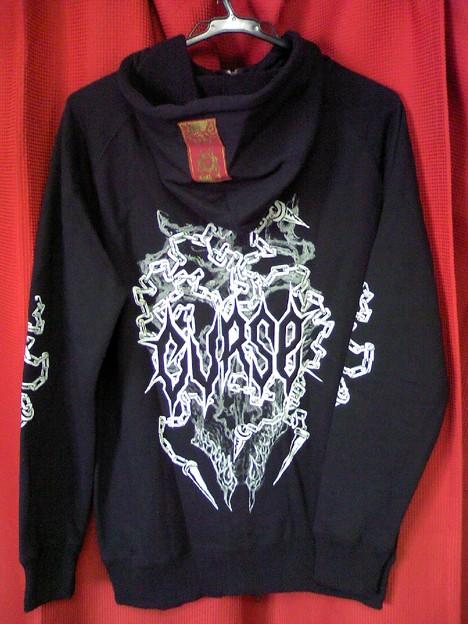 【ドロヘドロアパレル】2011 CURSE / SLUDGE STAKE - High neck hoodie (black)