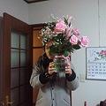 写真: 先週いただいた花 きれいに...