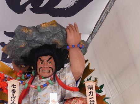 36 博多祇園山笠 西流 舁き山 剛力一投破漆黒(ごうりきいっとうしっこくをやぶる)2012年 写真画像8