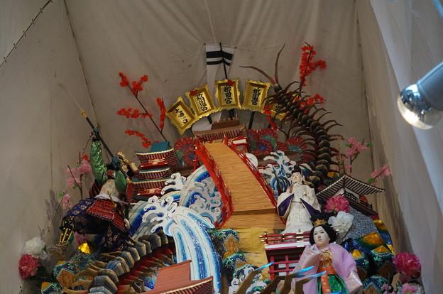 17 2014年 博多祇園山笠 飾り山笠 藤太百足退治勇 (8)