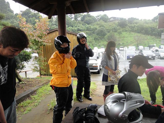 バイク組も到着