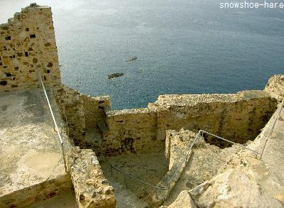 城塞から見た海
