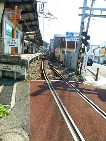 江ノ島→腰越の併用軌道区間33