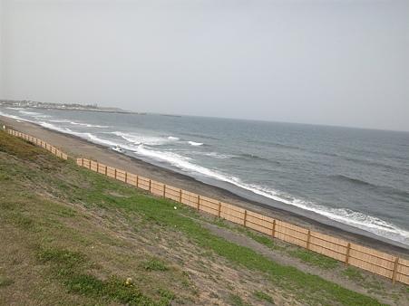 震災後の大洗海岸