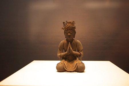 2010.11.15 東京国立博物館 彫刻 勢至菩薩坐像 平安時代