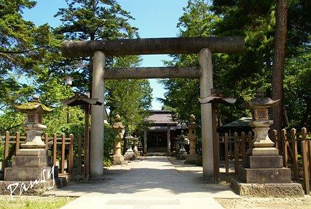 松岬神社・・1 上杉の城下町米沢へ・・