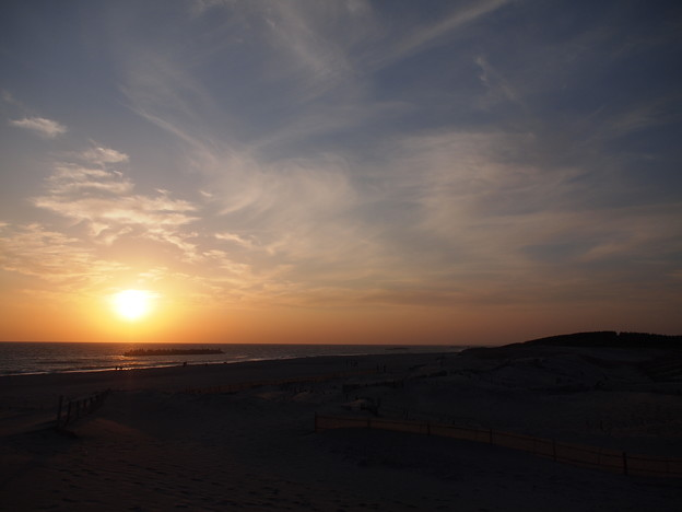 Photos: 遠州灘へ沈む夕日