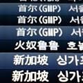 写真: 上から。台北、ソウル、ホノ...