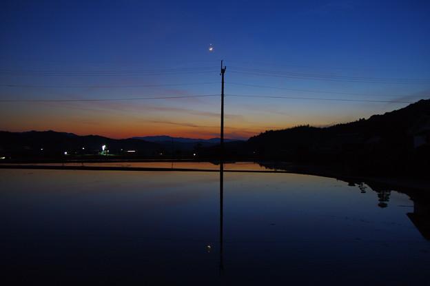 夕空のランデブー