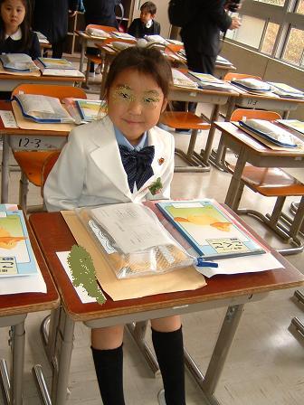 入学式 ♪隣に座る子いい子かな~?