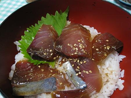 ぶりのヅケ丼