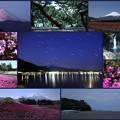 富士山と河口湖など