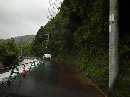 R424:日高郡みなべ町東本庄の崩落現場