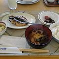 Photos: 朝ご飯バイキング鰺の干物は焼きたてー