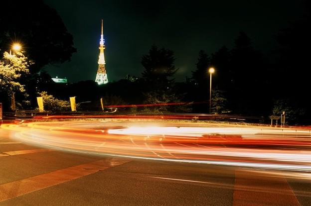 八木山ヘアピンカーブ夜景