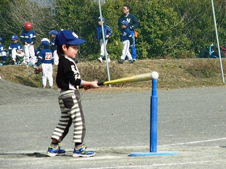 小さい子ですが、元気なプレー。ボールも見えているようで楽しみです